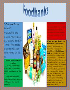 Ali & Mahdi Foodbank Poster